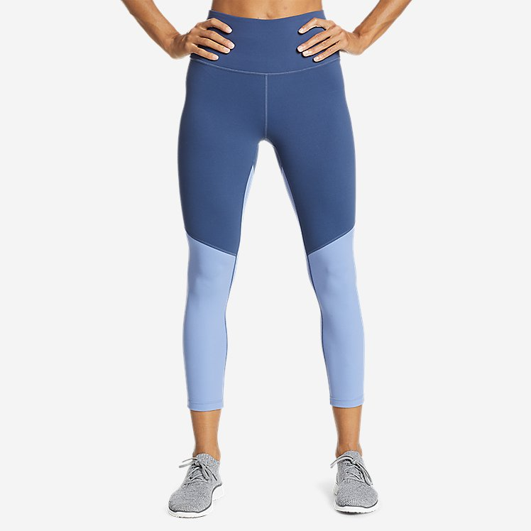 Women's Movement Lux High-Rise 7/8-Length Leggings - Color Blocked large version