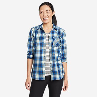 Thumbnail View 1 - Women's Eddie Bauer Expedition Performance Flannel 2.0 Shirt