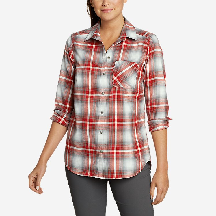 Women's Eddie Bauer Expedition Performance Flannel 2.0 Shirt large version