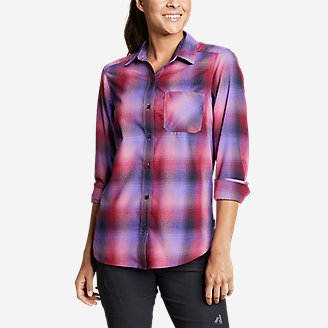 Thumbnail View 1 - Women's Eddie Bauer Expedition Performance Flannel Shirt