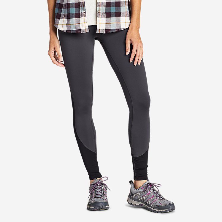 Women's Crossover Fleece High Rise Leggings - Color Block large version