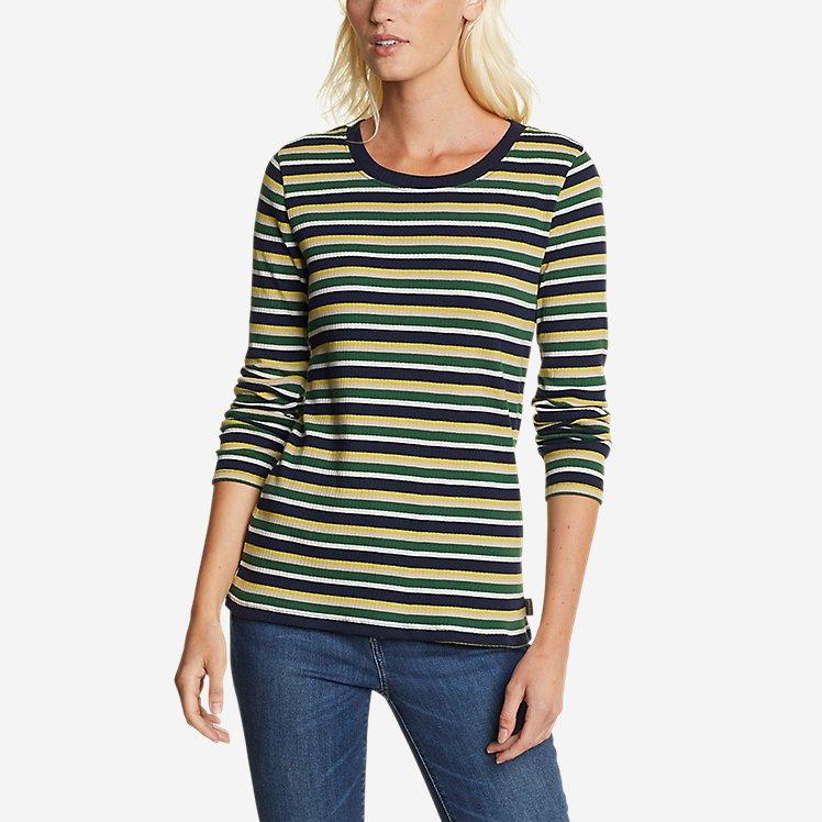 Women's Myriad Rib Long-Sleeve Crew - Stripe large version
