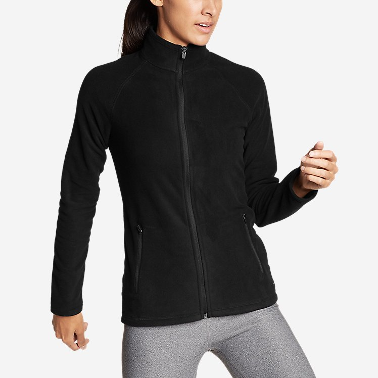 Women's Quest Fleece Raglan-Sleeve Full-Zip Jacket - Solid large version
