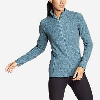 Thumbnail View 1 - Women's Quest Fleece Raglan-Sleeve Full-Zip Jacket - Solid