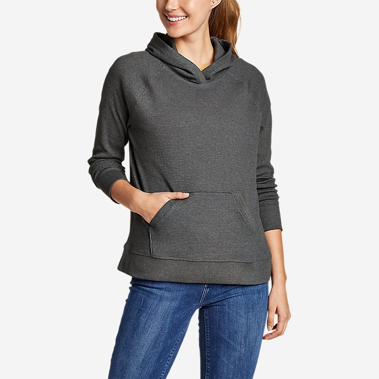 Women's Myriad Thermal Relaxed Pullover Hoodie large version