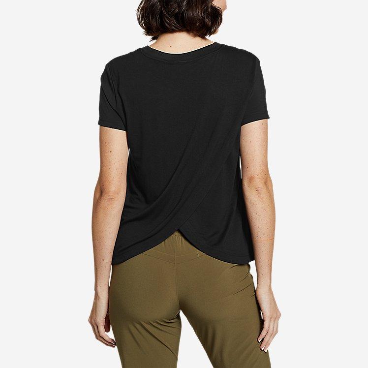 Women's Departure Lite Mixed-Knit T-Shirt large version