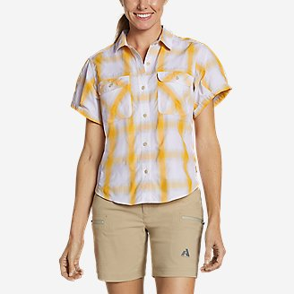 Thumbnail View 1 - Women's Mountain Short-Sleeve Camp Shirt