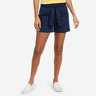 Thumbnail View 1 - Women's Linen Shorts