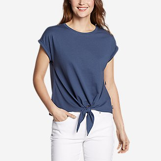 Thumbnail View 1 - Women's Myriad Tie-Front T-Shirt - Solid