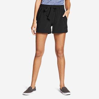 Thumbnail View 1 - Women's Departure High-Rise Mesh-Inset Shorts