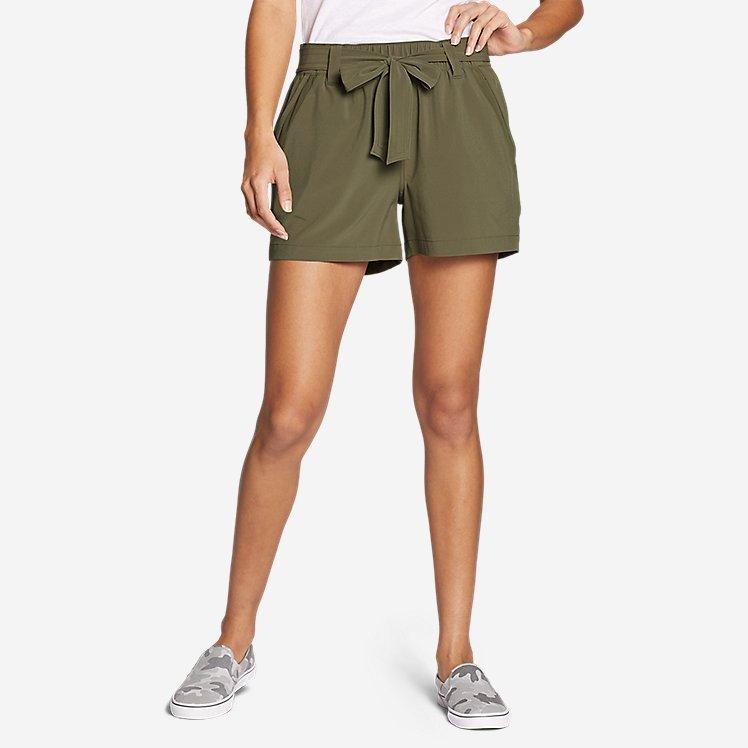 Women's Departure High-Rise Mesh-Inset Shorts large version