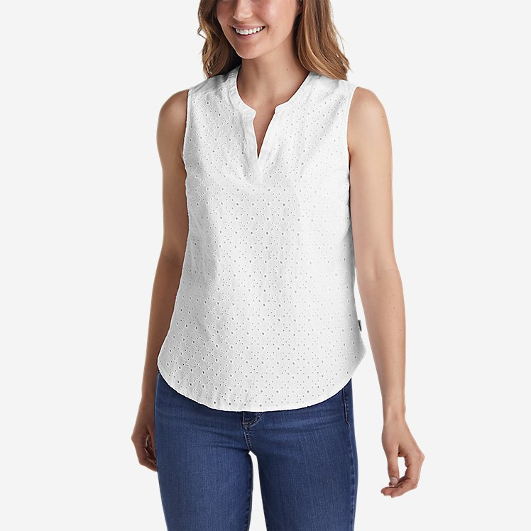 Women's On The Go Eyelet Tank Top large version