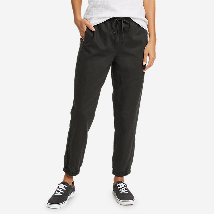 Women's Linen Pull-On Jogger Pants large version