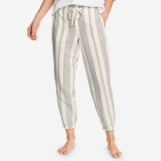 Thumbnail View 1 - Women's Linen Pull-On Jogger Pants