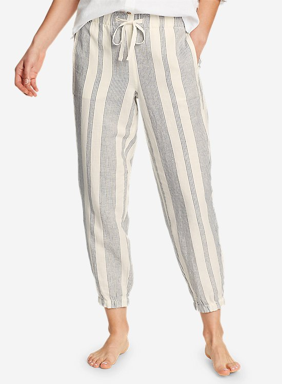Linen Pull-On Jogger Pants