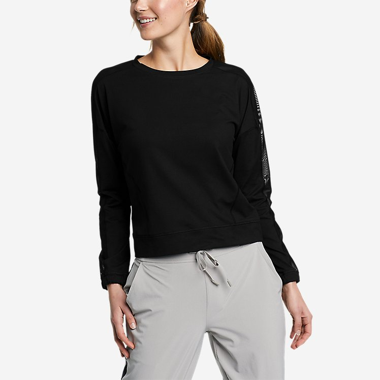 Women's Resolution 360 Mesh Mix Long-Sleeve Pullover large version