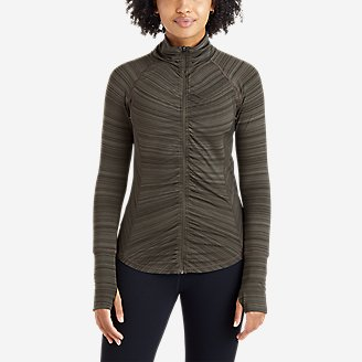 Thumbnail View 1 - Women's Trail Light Ruched Full-Zip Jacket