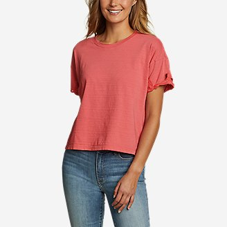 Thumbnail View 1 - Women's Go-To Embroidered-Sleeve T-Shirt
