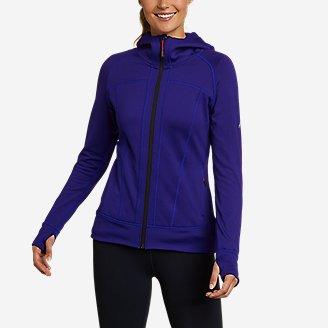 Thumbnail View 1 - Women's High Route Grid Fleece Full-Zip Jacket