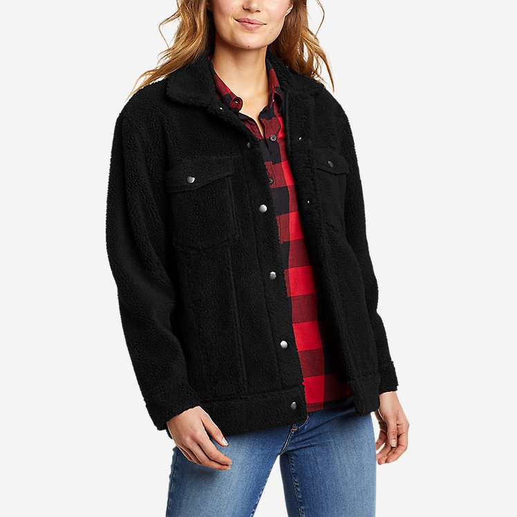 Women's Sherpa-Fleece Trucker Jacket large version