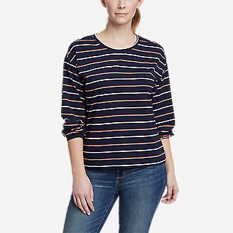 Thumbnail View 1 - Women's Myriad 3/4-Length Volume Sleeve T-Shirt - Stripe