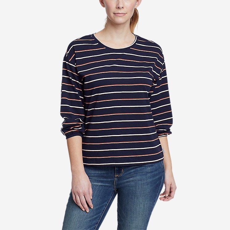 Women's Myriad 3/4-Length Volume Sleeve T-Shirt - Stripe large version