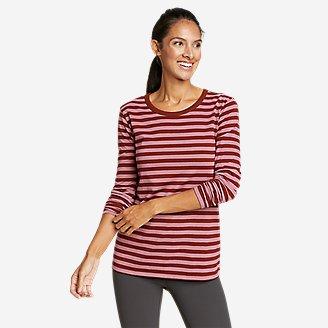 Thumbnail View 1 - Women's Myriad Long-Sleeve Crew T-Shirt - Stripe