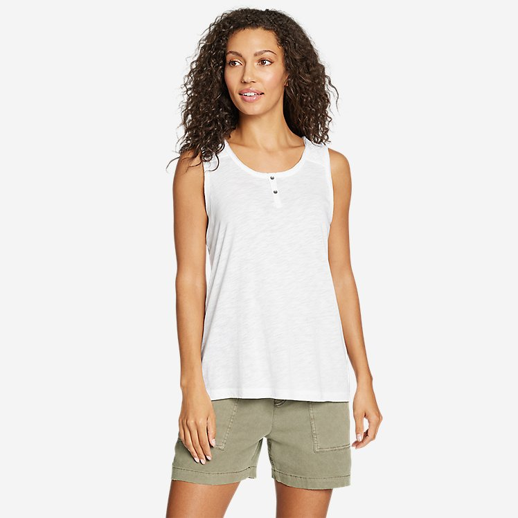 Women's Gate Check Button-Front Tank Top large version