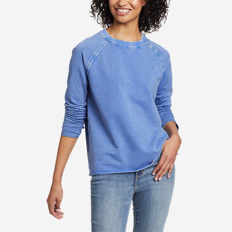 Women's Mineral Wash Terry Crew Sweatshirt large version