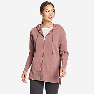 Thumbnail View 1 - Women's Mineral Wash Terry Full-Zip Hoodie