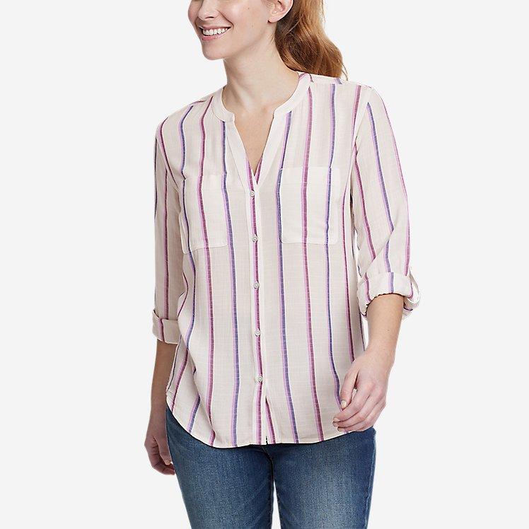 Women's Rivierah Long-Sleeve Y-Neck Shirt large version