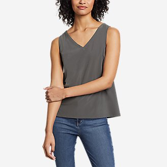 Thumbnail View 1 - Women's Departure V-Neck Tank Top - Solid