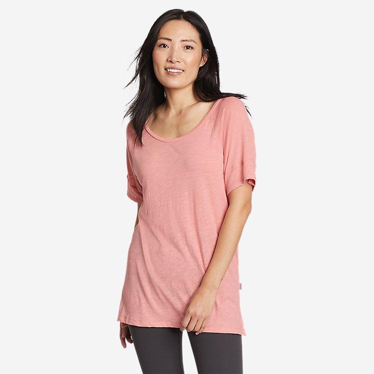 Women's Gate Check Short-Sleeve Step-Hem T-Shirt large version