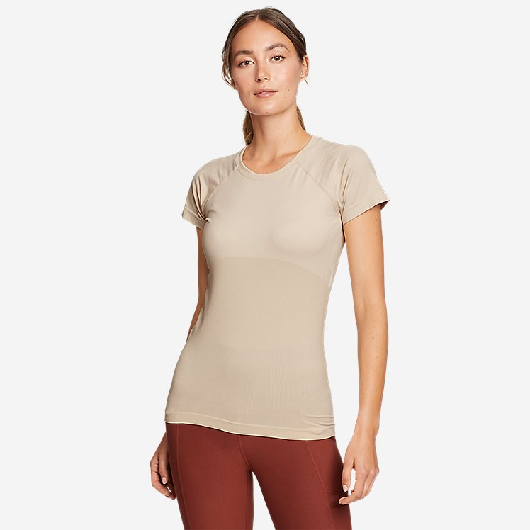 Women's Seamless Short-Sleeve Crew T-Shirt large version