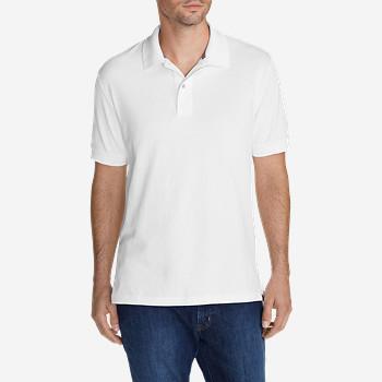 Eddie Bauer Men's Field Short Sleeve Polo Shirt (White or Black)