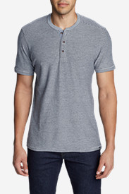 Men's Ferox Short-Sleeve Henley Shirt - Textured Stripe