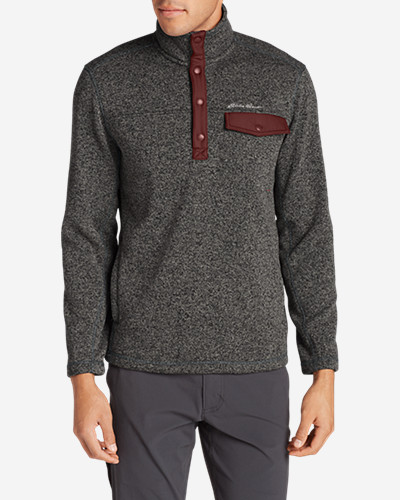 Eddie Bauer Mens Radiator Snap Mock Neck