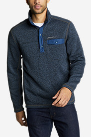 Men's Radiator Fleece Snap Mock Neck
