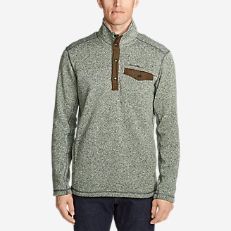 Thumbnail View 1 - Men's Radiator Fleece Snap Mock Neck