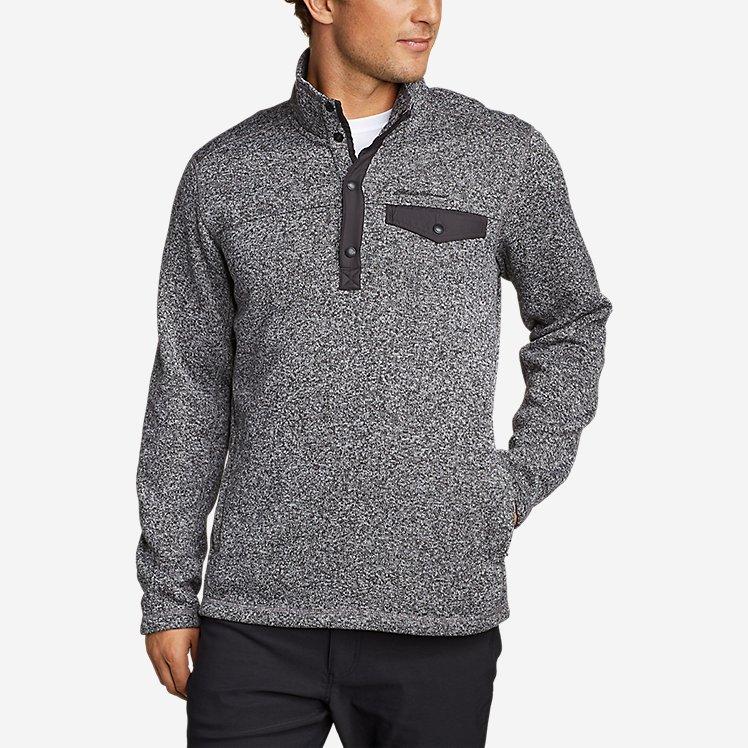 Men's Radiator Fleece Snap Mock Neck large version