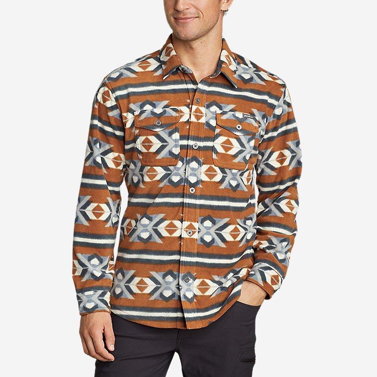 Eddie Bauer Mens Chutes Microfleece Shirt