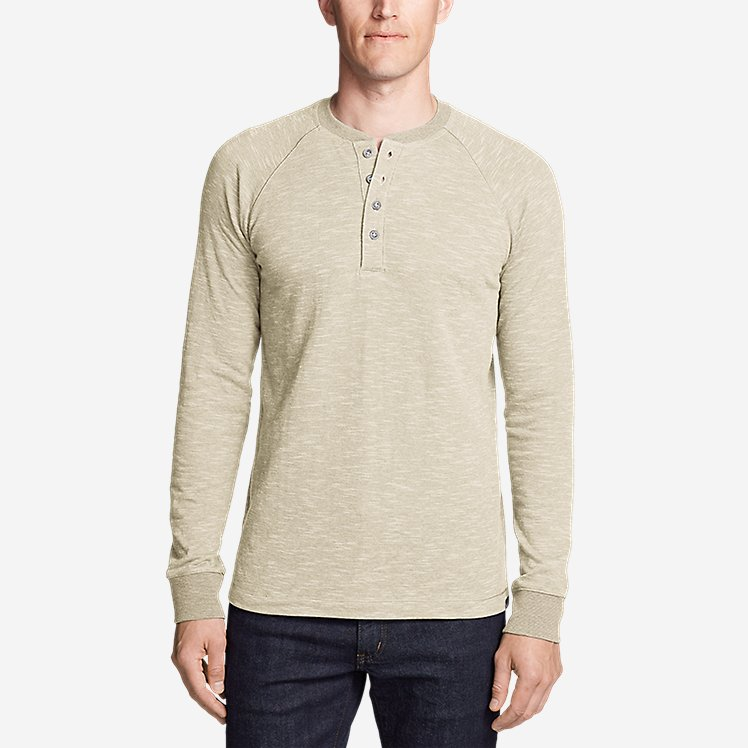 Eddie Bauer Mens Basin Long-Sleeve Henley Shirt 13302995