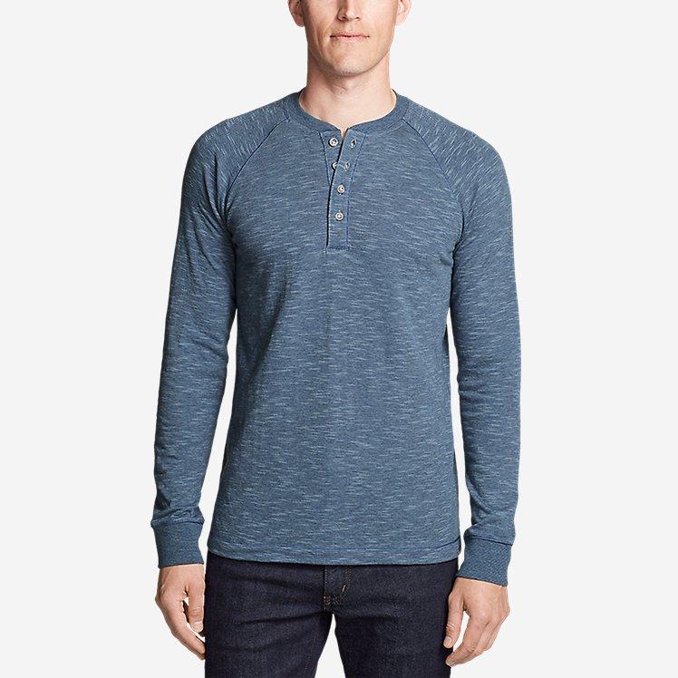 Men's Basin Long-Sleeve Henley Shirt large version