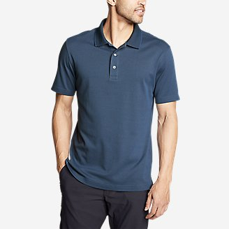 Thumbnail View 1 - Men's Voyager 2.0 Short-Sleeve Polo Shirt - Classic Fit, Solid