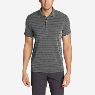 Thumbnail View 1 - Men's Contour Short-Sleeve Polo Shirt - Stripe