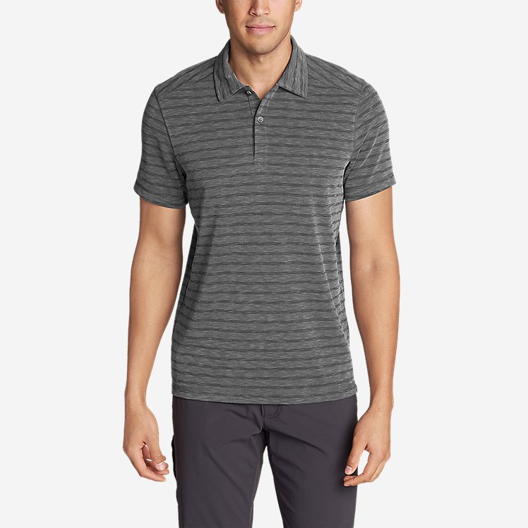 Men's Contour Short-Sleeve Polo Shirt - Stripe large version