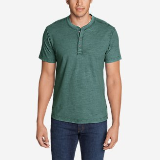 Thumbnail View 1 - Men's Legend Wash Short-Sleeve Slub Henley Shirt