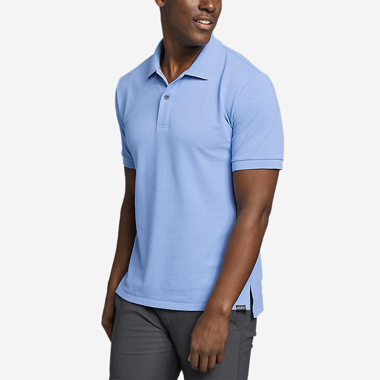 Eddie Bauer Mens Classic Field Pro Short-Sleeve Polo Shirt