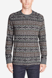 Men's Thermal Long-Sleeve Crew - Print