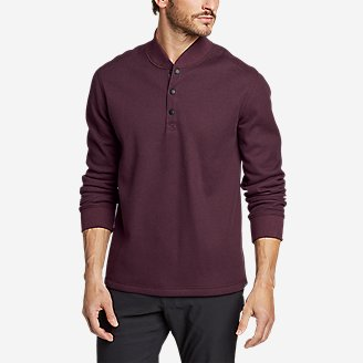 Thumbnail View 1 - Men's Sherpa-Lined Thermal Henley